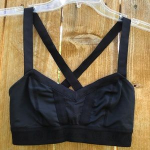 Lululemon Black Sports bra cross strap